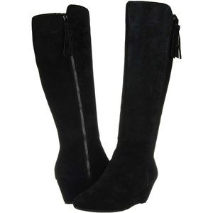 NWB Anne Klein Women's Alanna Wedge Boot Knee High